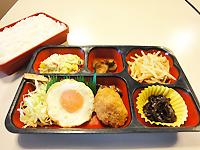 日替わり弁当・・・385円(+40円でごはん大盛り!)